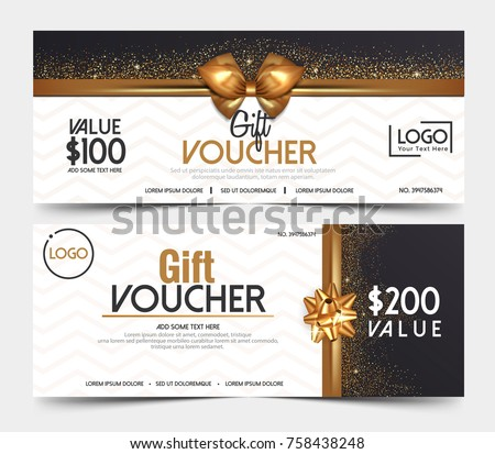 Gift Voucher Template Or Certificate Coupon Design Template,Collection Gift Certificate  Business Card Banner Calling  Business Voucher Template
