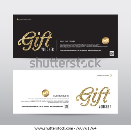 stock-vector-gift-voucher-template-promotion-sale-discount-gold-glitter-background-vector-illustration