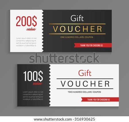 big same abstract voucher design template - Download Free Vector Art ...