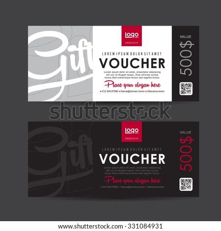 Gift voucher template,Vector illustration