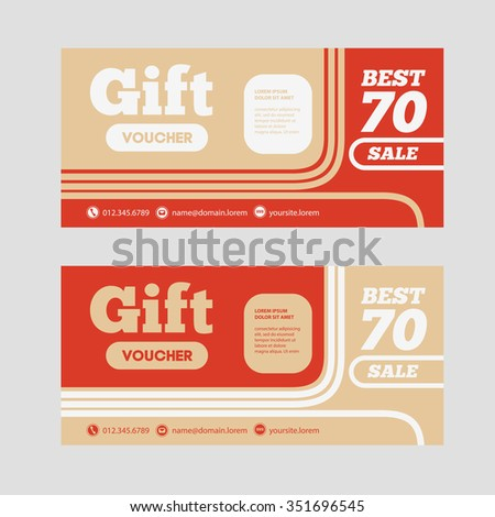 Vector illustration of Gift voucher template Can be use for – Prize Voucher Template