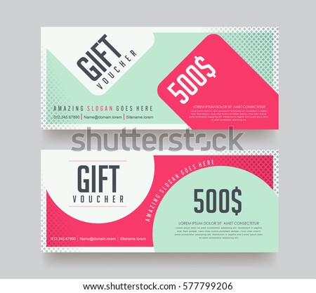 stock-vector-gift-voucher-template-with-colorful-pattern-vector-illustration