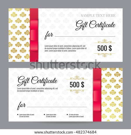diploma certificate template vector design in red color download