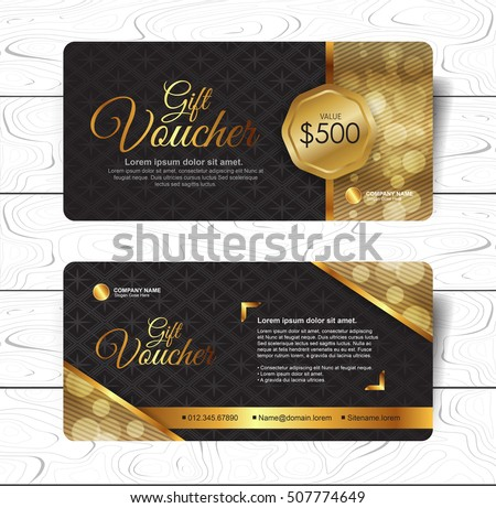 gift voucher template with colorful pattern background download