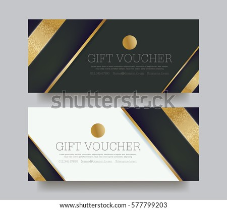 Gift voucher template with luxury pattern.Vector illustration