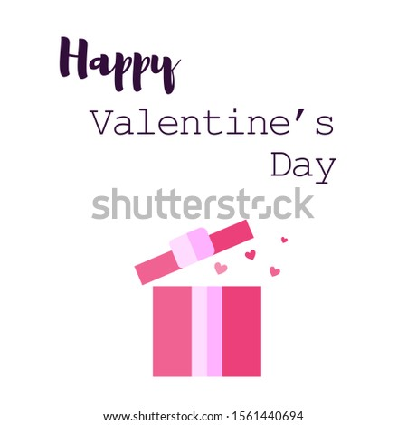 Gifts for Valentine's Day. Valentine's day gift in flat style. Vector.