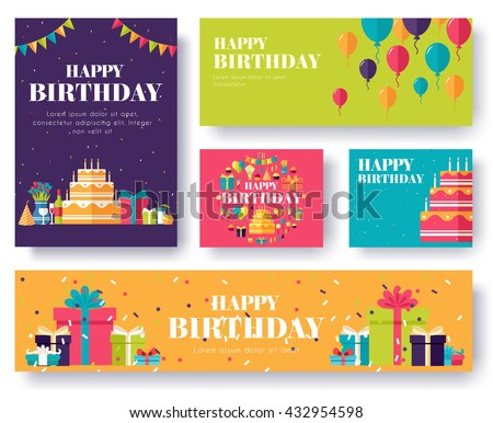 Gifts vector banners set