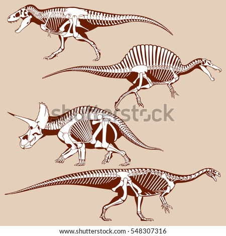 gigantic dinosaurus silhouettes