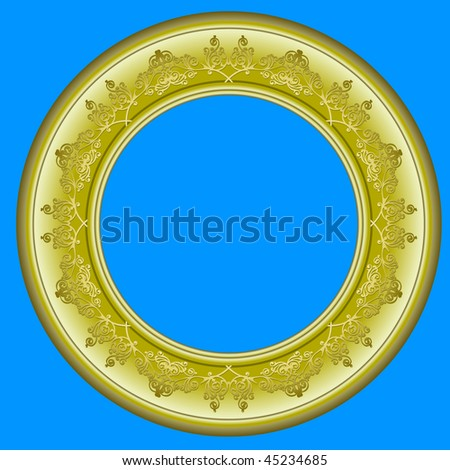 gilded circular frame for picture