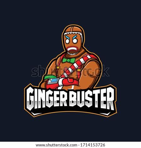 ginger man mascot logo for