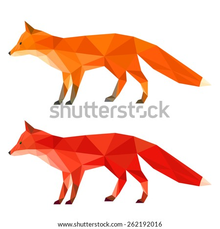 ginger  red fox abstract