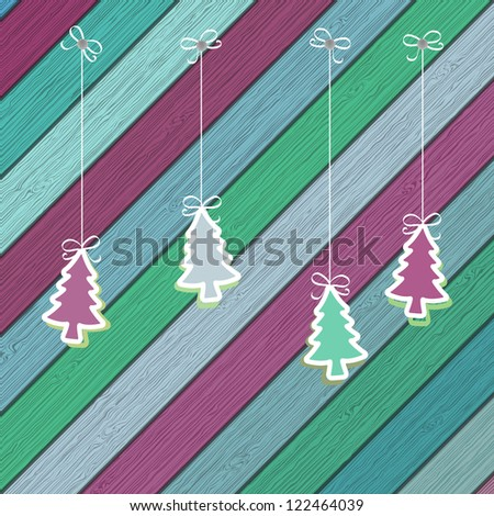 Gingerbread cookies with Christmas tree branches.  + EPS8 vector file