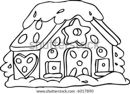 stock vector : Gingerbread House