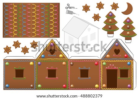 gingerbread house with sweet