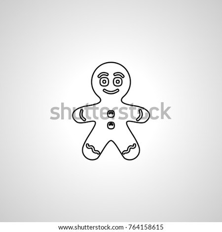 Gingerbread Man icon #764158615