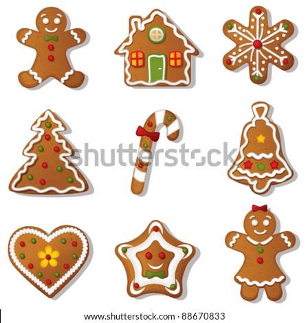 Gingerbread set.Vector