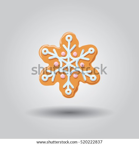 gingerbread snowman isolated on