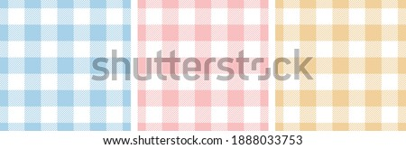 gingham pattern set tartan