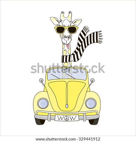 giraffe in sunglasses and