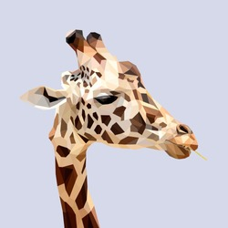 Giraffe Low Poly Art Work
