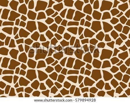 Giraffe seamless pattern. Vector image.