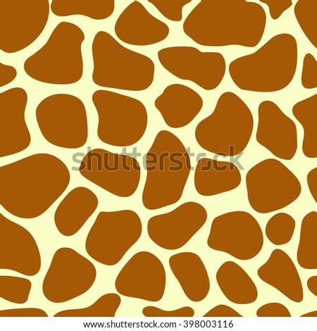 Giraffe skin. Giraffe seamless pattern
