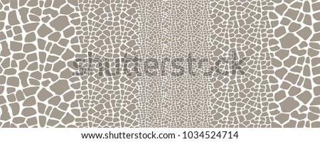 Giraffe skin seamless vector pattern