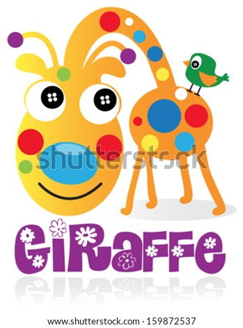 giraffe t shirt graphics cute