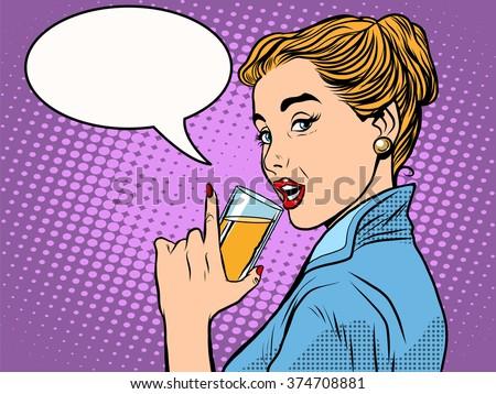 girl alcoholic drink