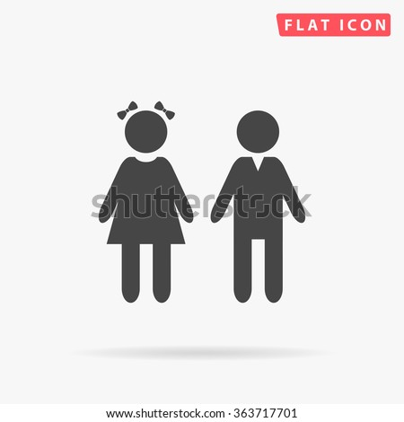 girl and boy icon vector