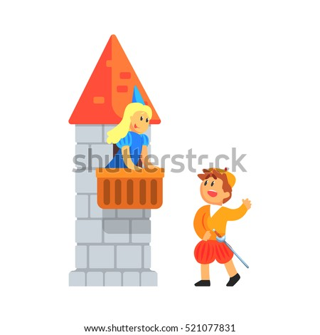 girl and boy in medieval