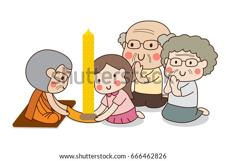 girl and elderly couple