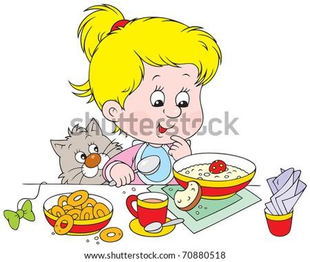 Girl at breakfast
