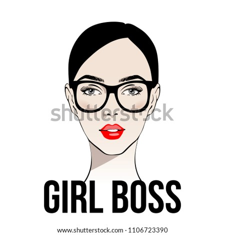 girl boss fashion girl with