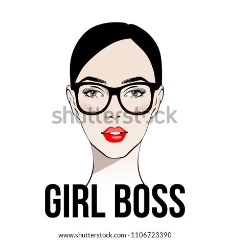 girl boss fashion girl with