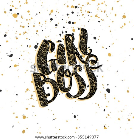 girl boss modern concept of