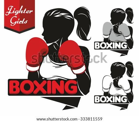 girl boxing logo