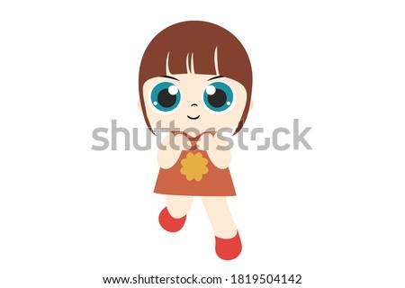 girl chibi character vector 15