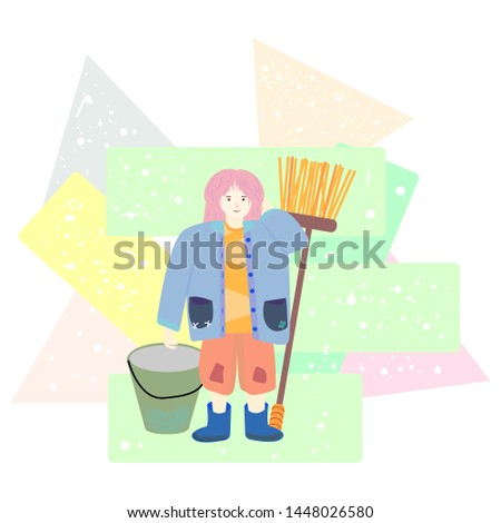 girl country time abstract and