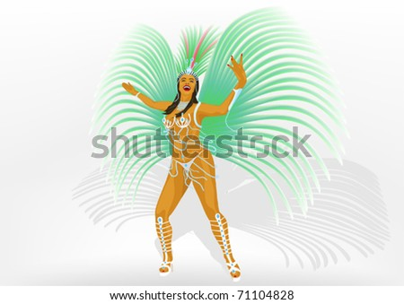 Girl dances samba