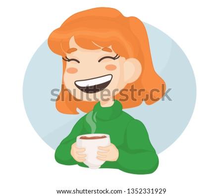 girl drink coffee
