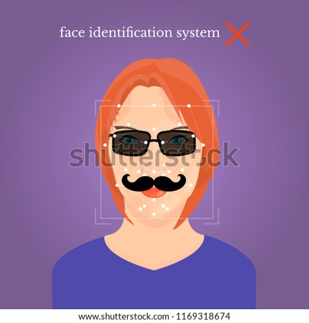 girl face with black fake