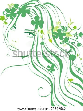 girl floral