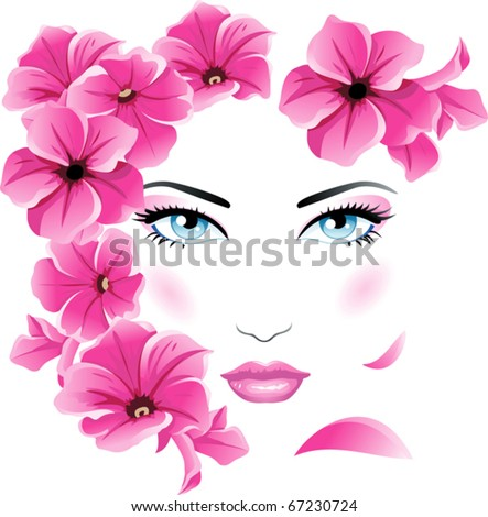 Girl Floral face
