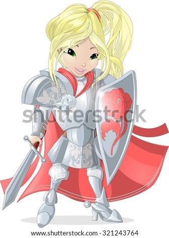 girl from fairy tale knight in
