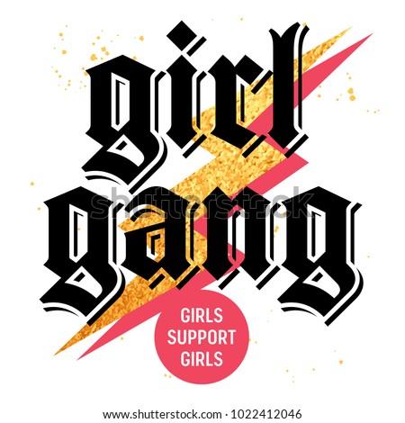 girl gang t shirt print design