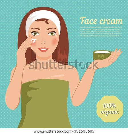girl gets cream on face