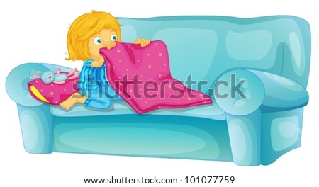 girl getting ready to sleep on