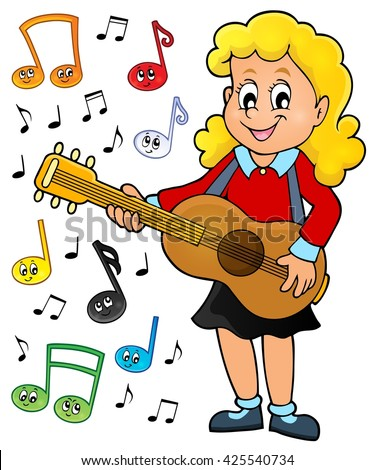 girl guitar player theme image