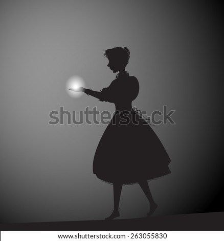 girl holding a lantern in a